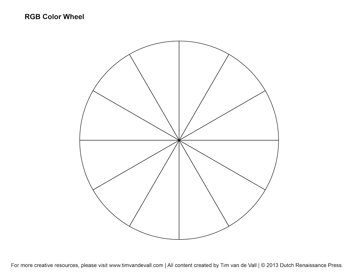 5 Images of Color Wheel Template Printable