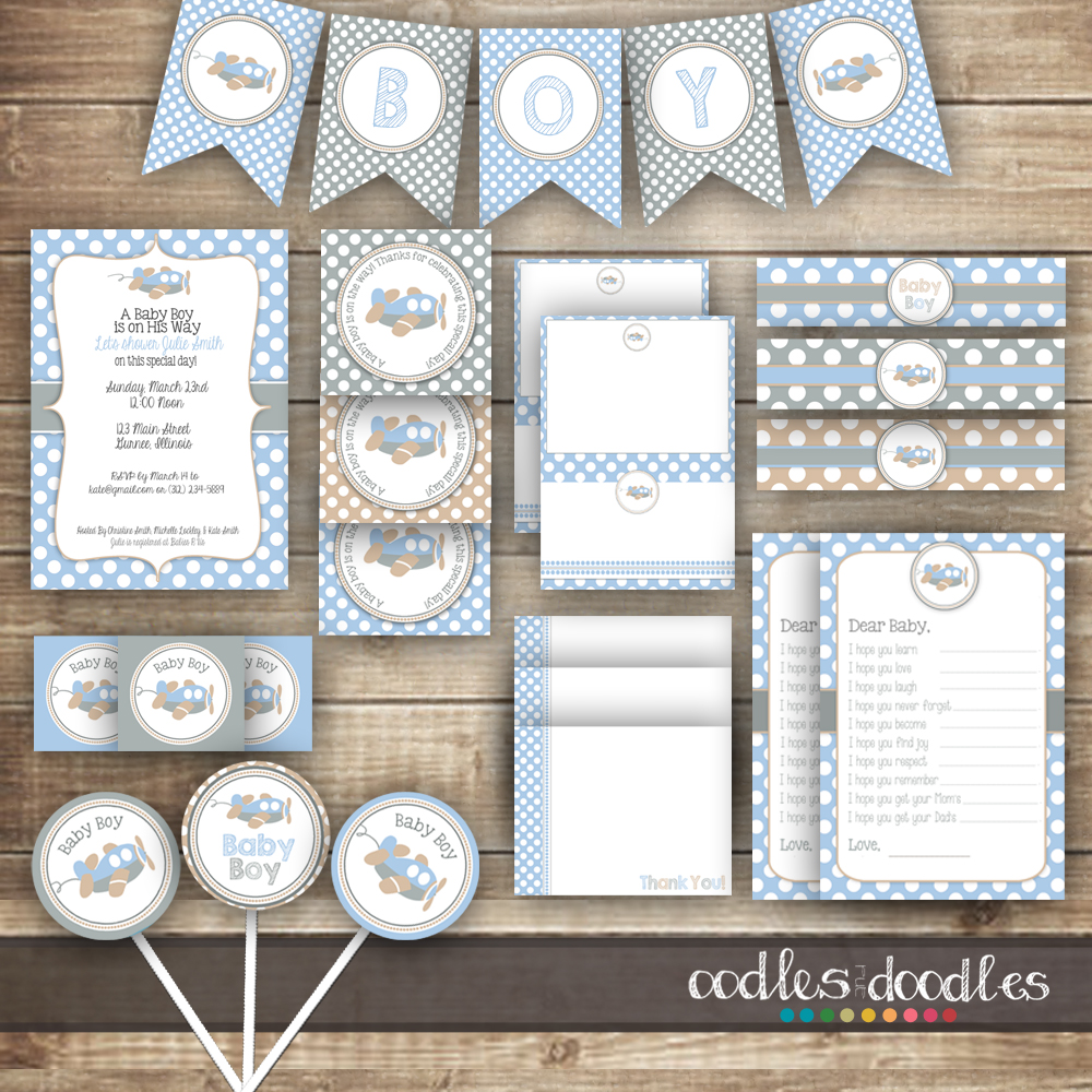 4 Images of Baby Arrival Printable Blank Tags