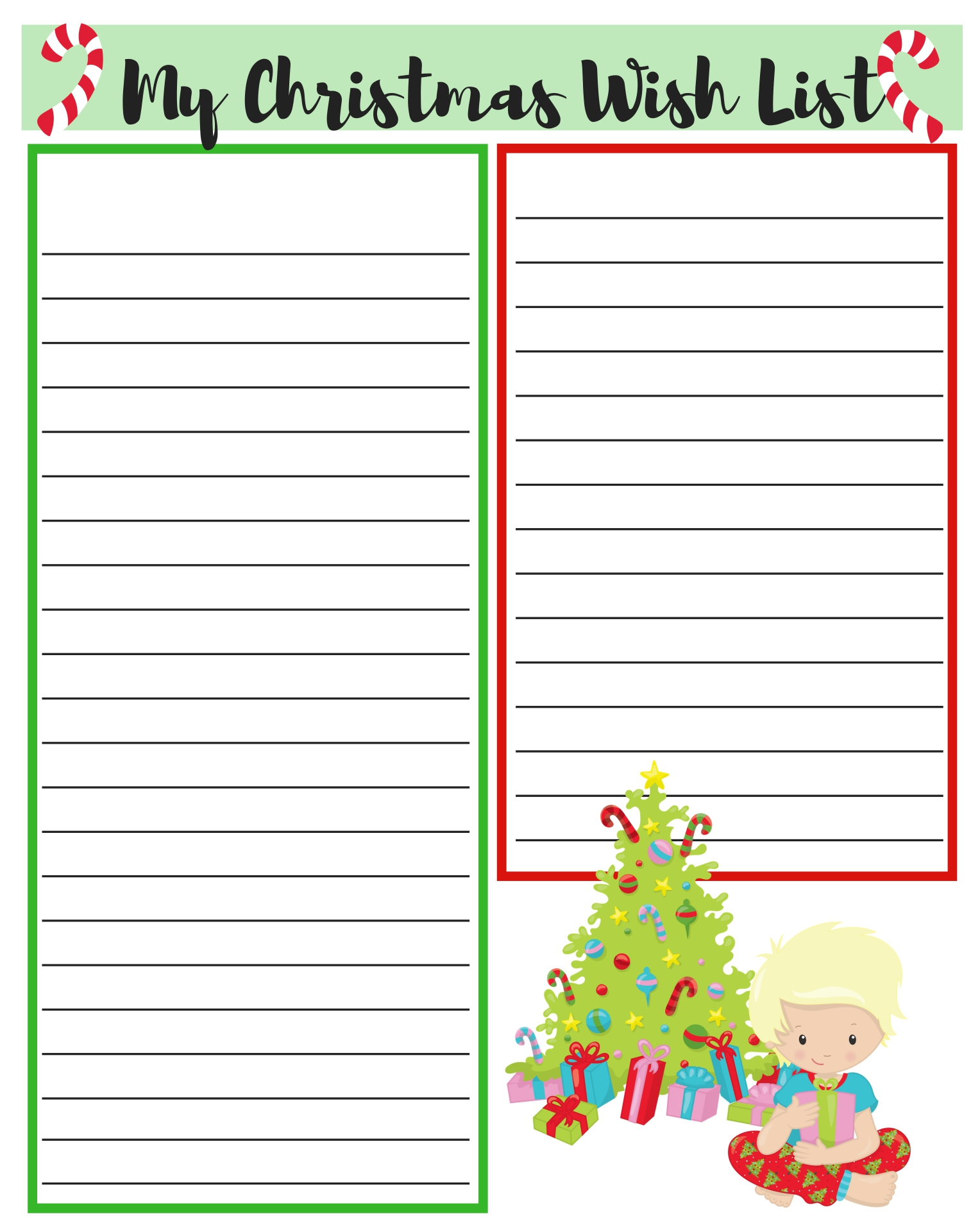 5 Images of Free Printable Christmas List Paper