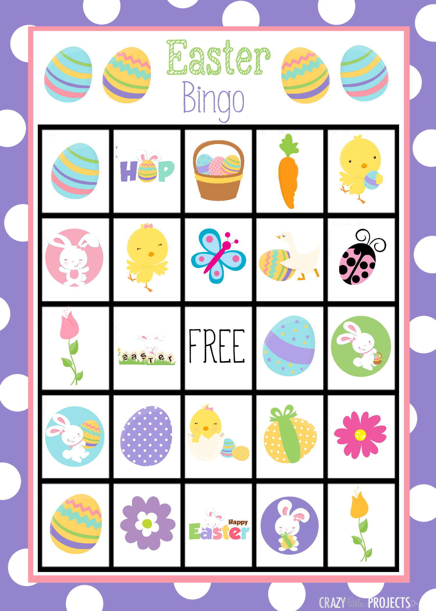 8 Images of Spring Bingo Printable Games