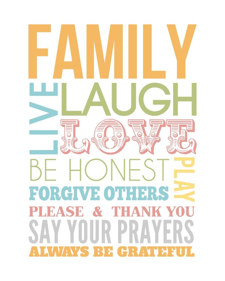 Printable Family Quotes and Sayings
