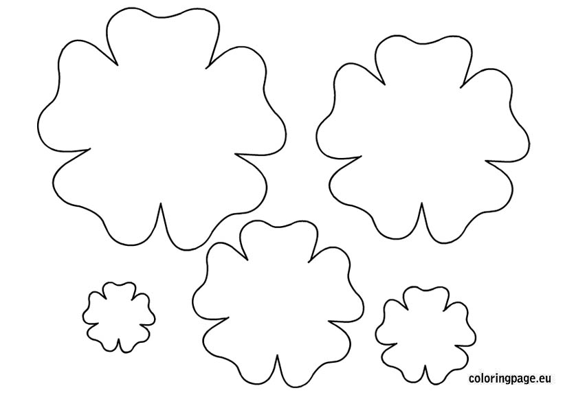4 Images of Printable Flower Template Pattern