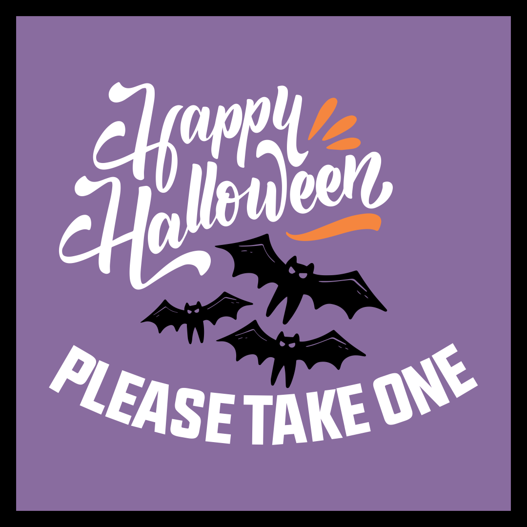 Printable Halloween Candy Signs
