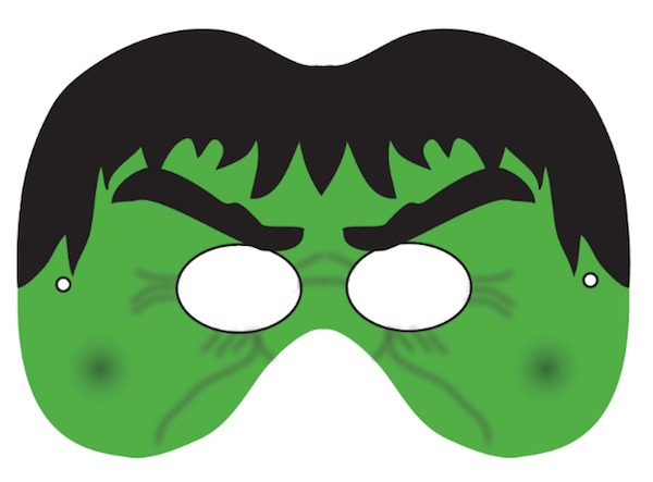 6 Images of Hulk Printable Mask