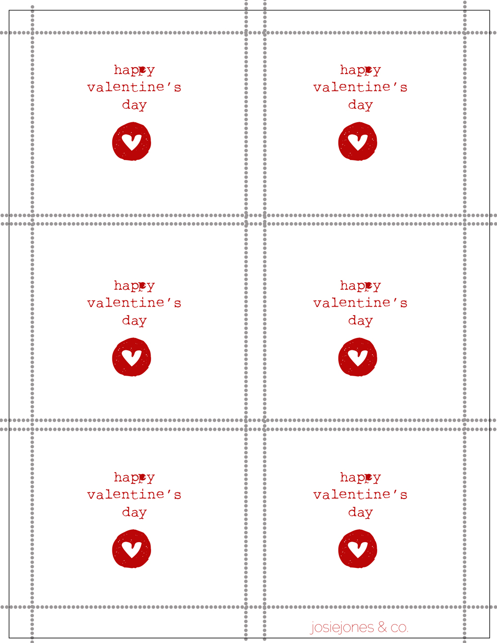 4 best images of foldable valentine day card printables
