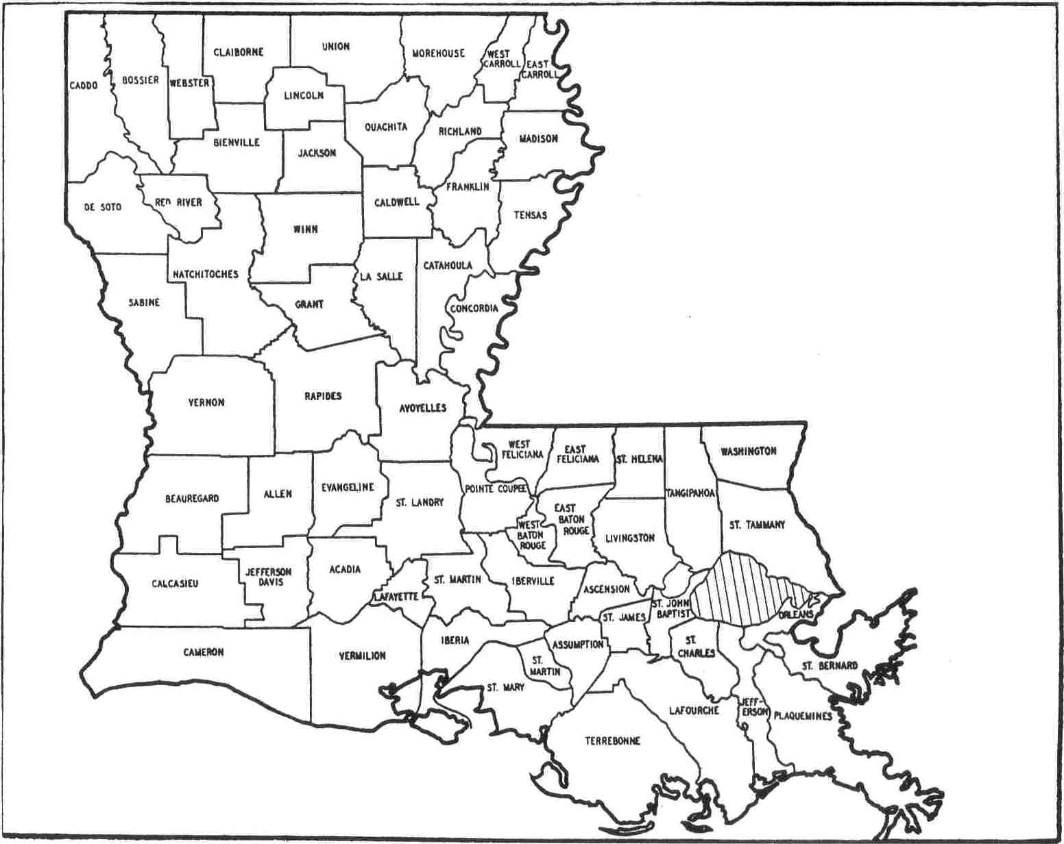 6 Best Images Of Printable Louisiana Map  Printable Map