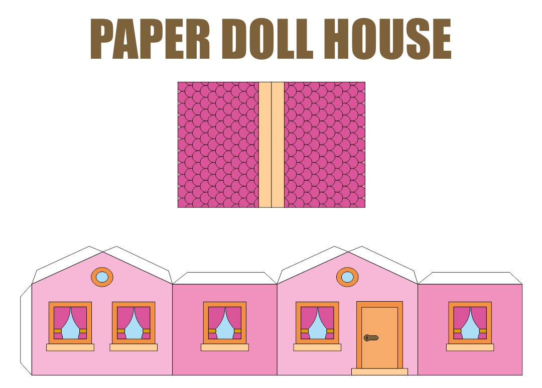 9 Images of Free Printable Paper Doll House