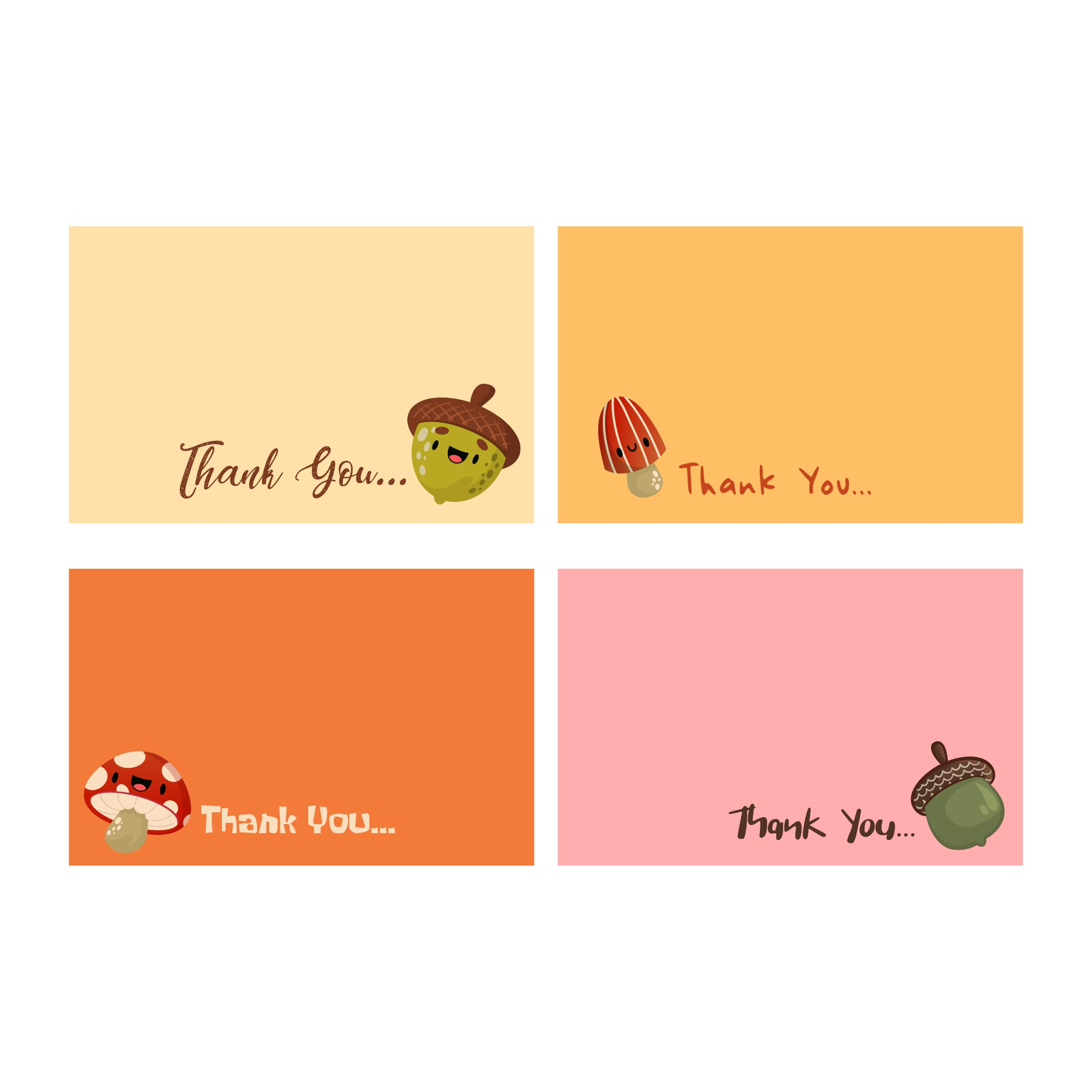 Printable Thank You Note Cards