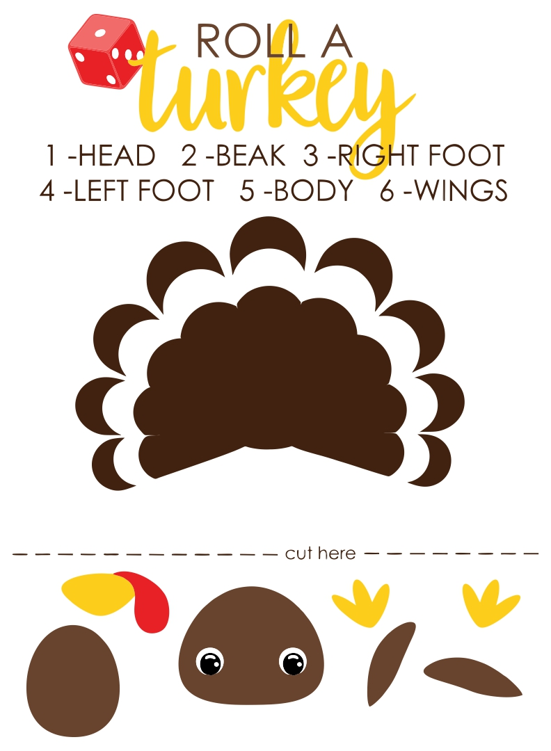 Printable Thanksgiving Turkey Bowl Game
