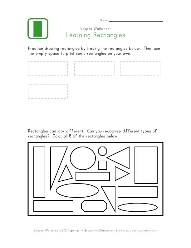 4 Images of Printable Rectangle Worksheet