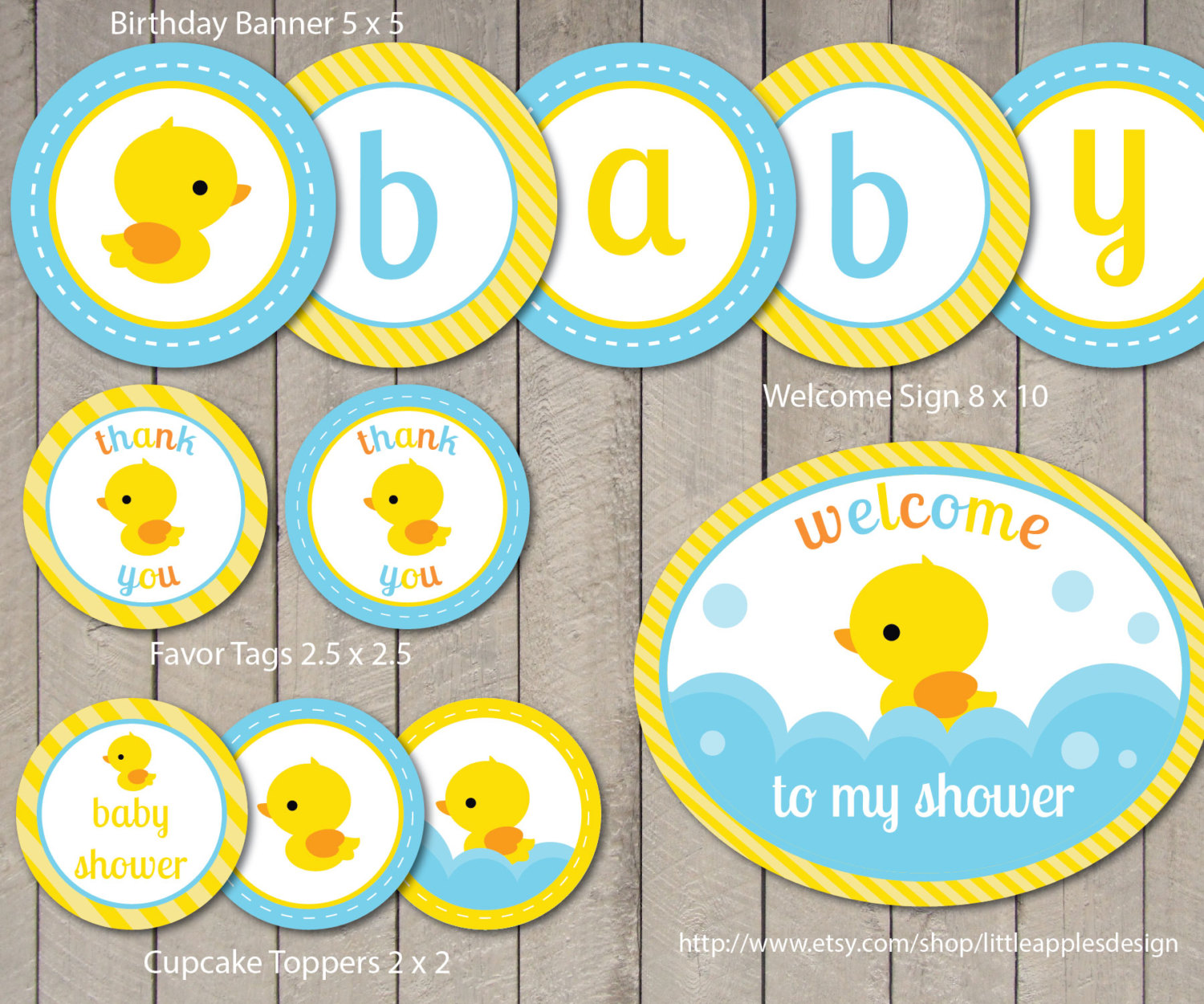 7 Images of Duck Baby Shower Printables