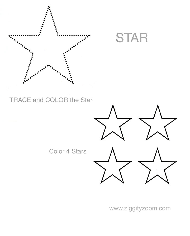 Worksheets Star Worksheets 5 best images of printable preschool star worksheets stars shape tracing worksheet