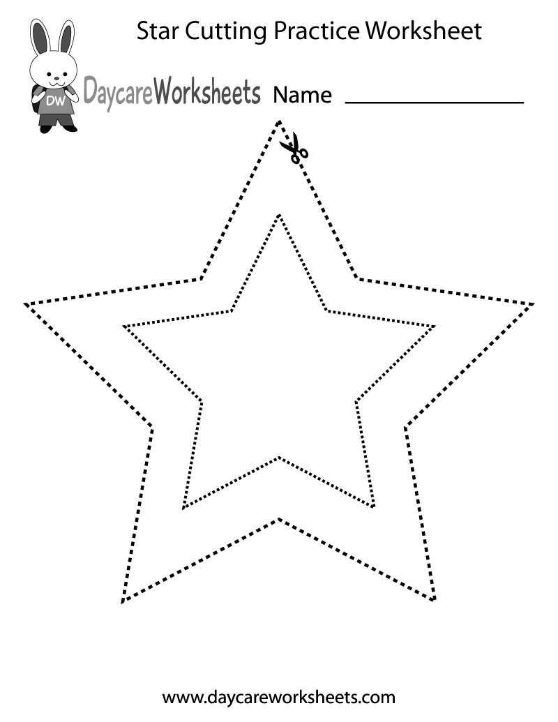 5 Images of Printable Preschool Star Worksheets