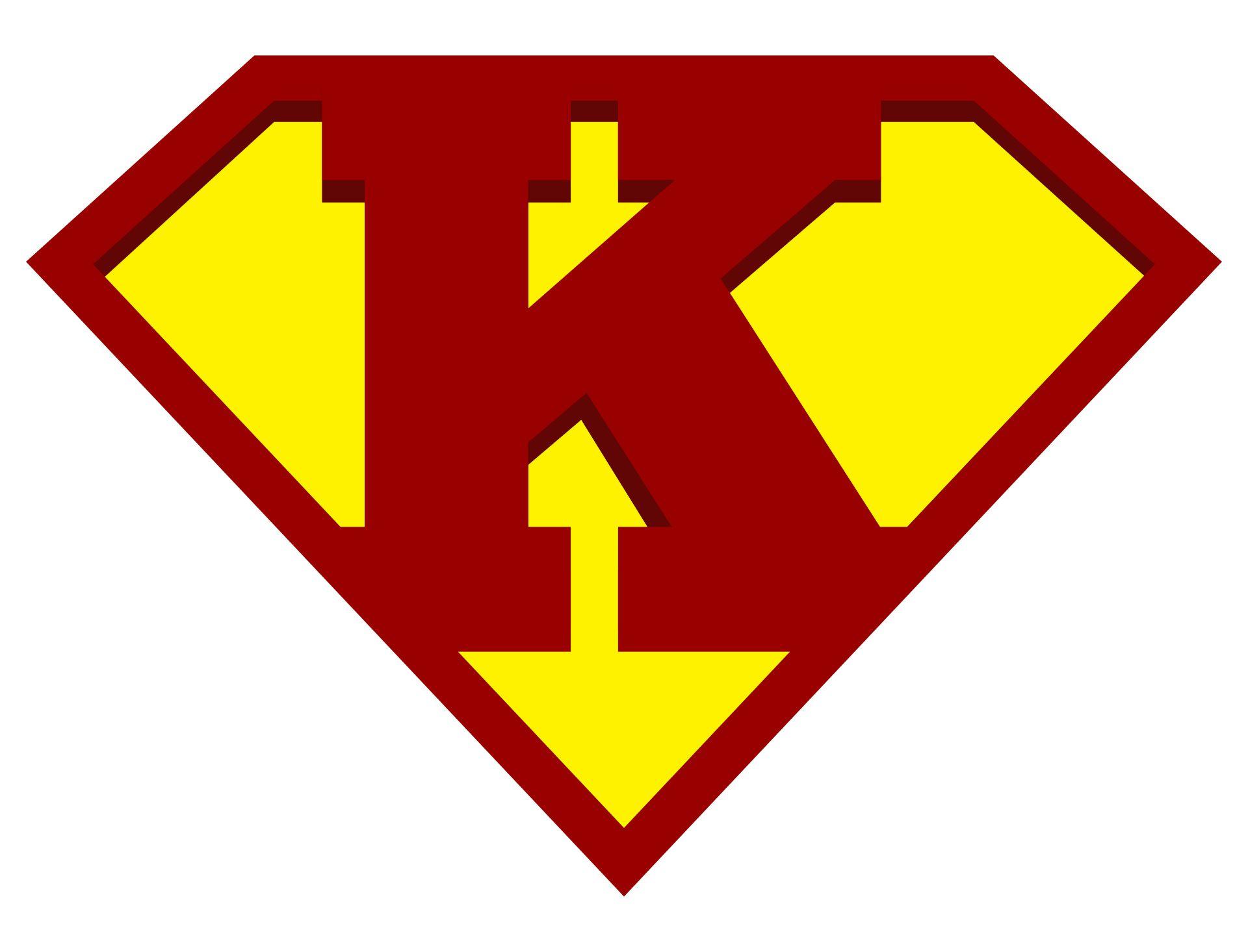 Superman Logo with Letter K