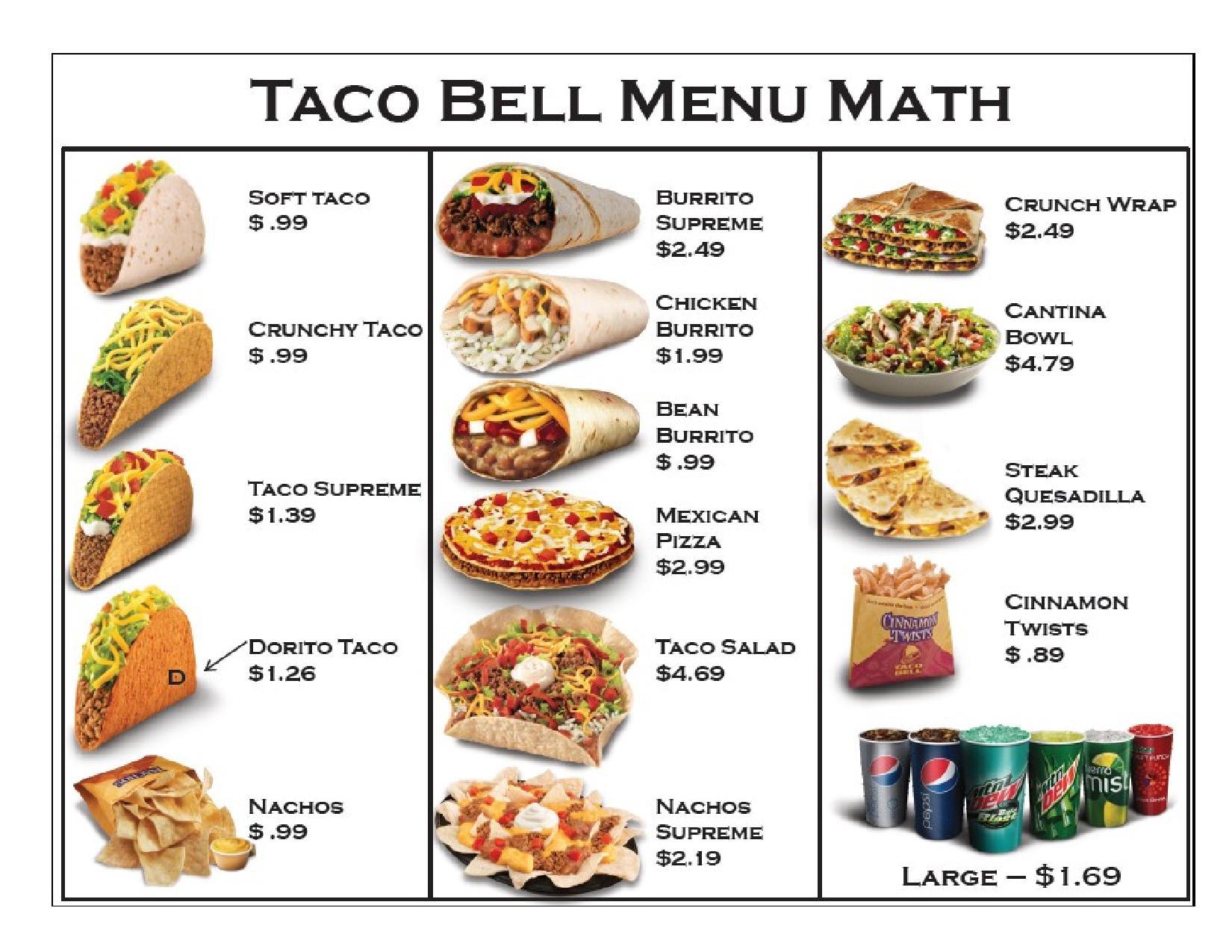 Taco Bell Menu Com