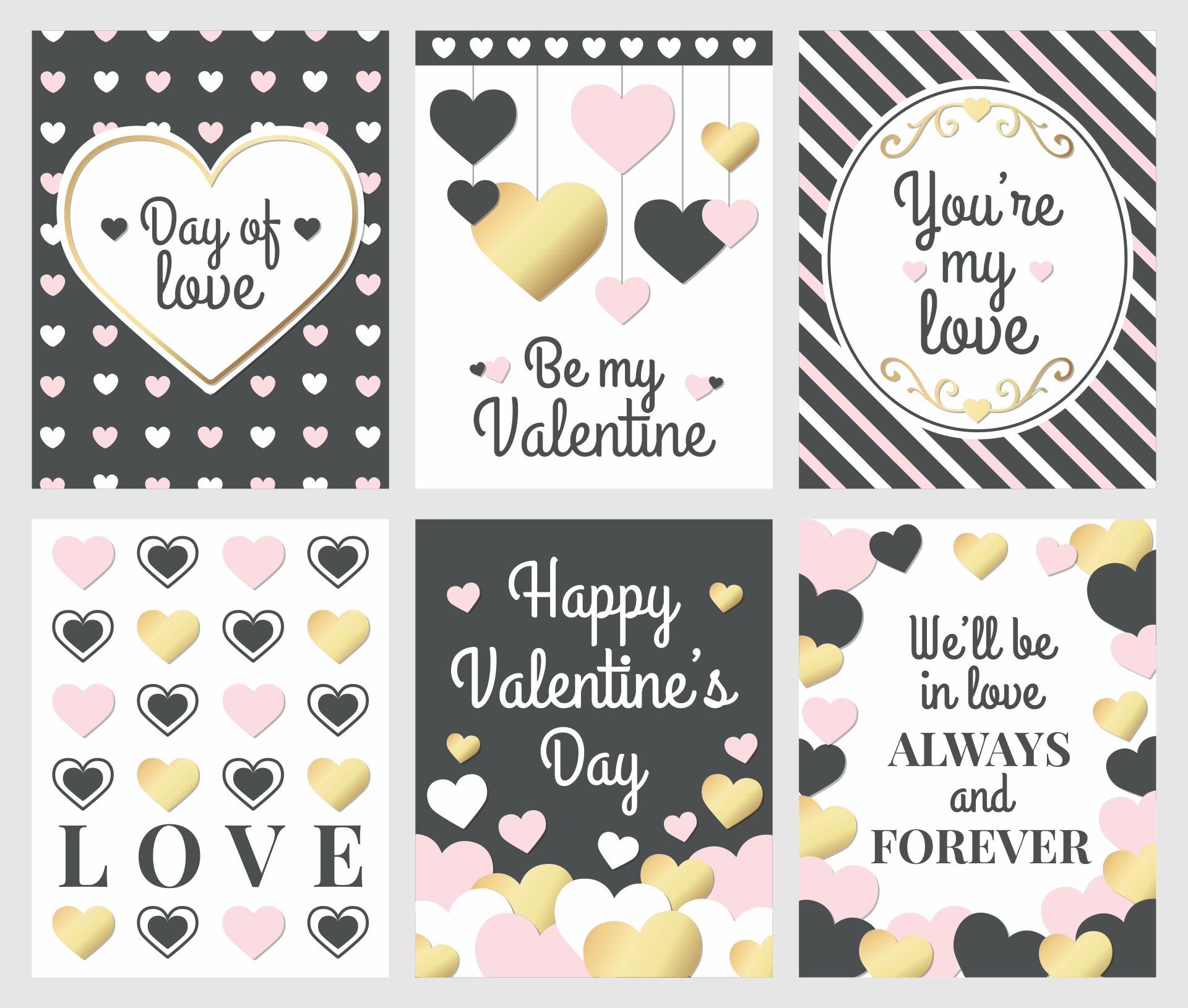 Valentine Cards Printable Tags