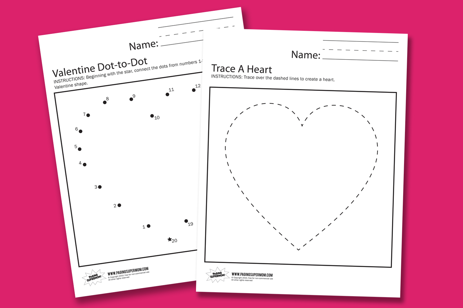 Valentine Day Kindergarten Printables Valentine Day – Valentine Day Math Worksheets