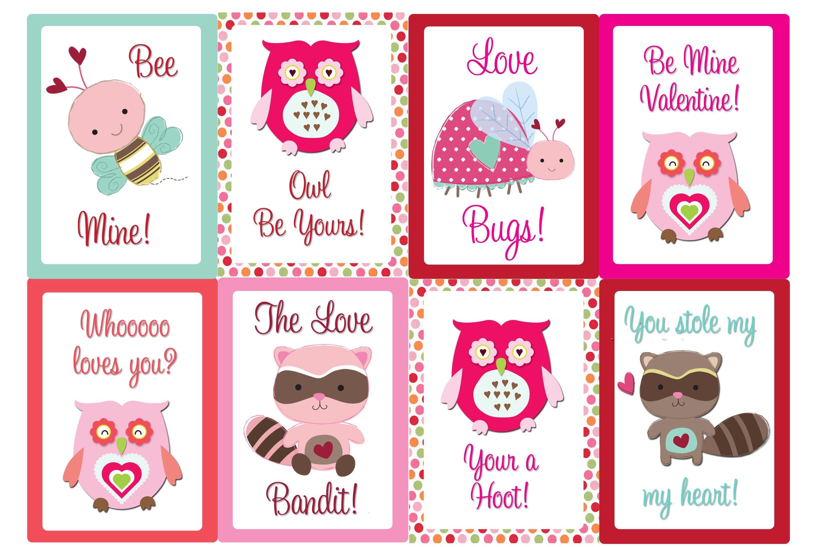 9 Images of Printable Valentine's Day Greeting Cards