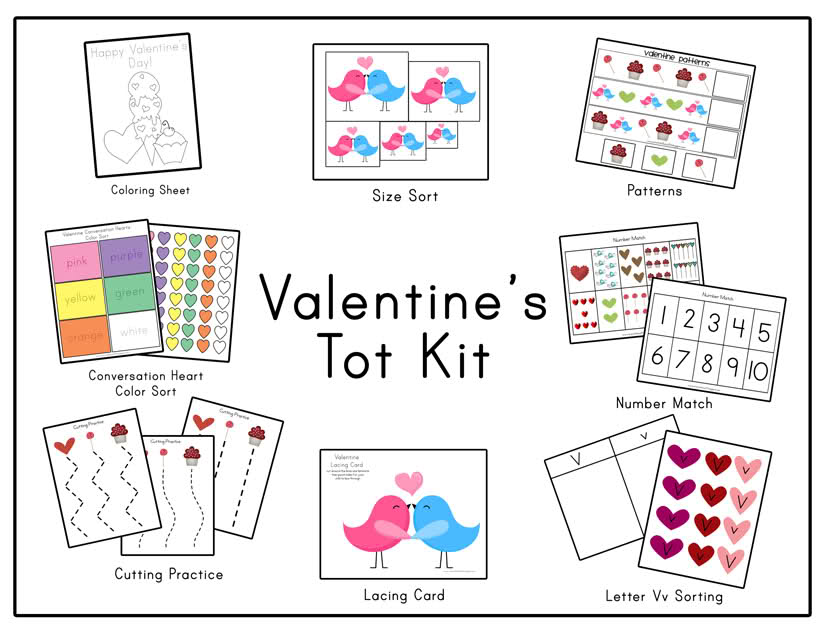 7 Images of Valentine's Day Printables For Kindergarten