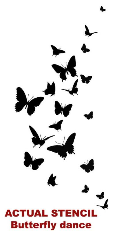 8 Images of Free Printable Butterfly Stencils For Walls