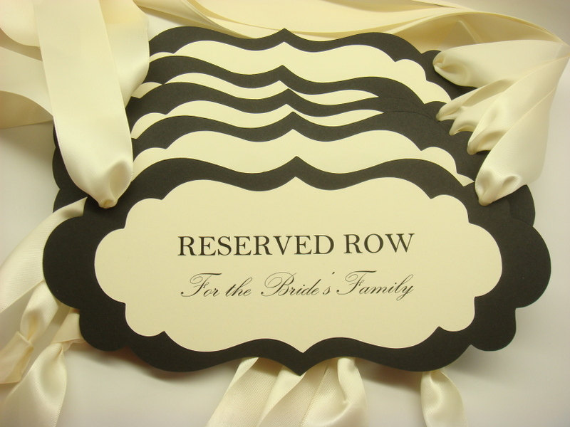 5 best images of printable wedding reserved seating signs for Reserved seating signs template