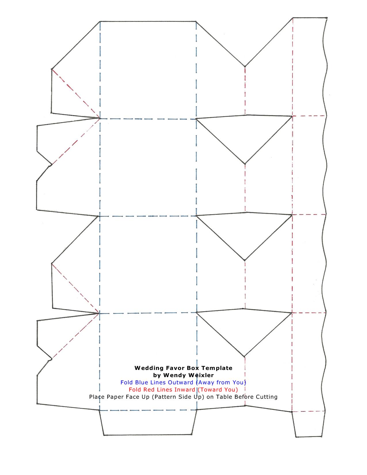 Wedding Favor Gift Box Template : Wedding Templates Favor Box - Free Printable Favor Boxes Templates ...