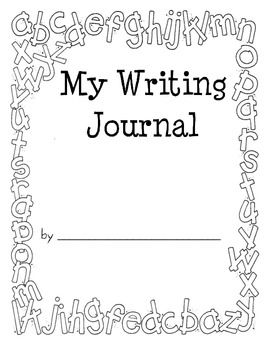 5 Images of Printable Kindergarten Journal Covers