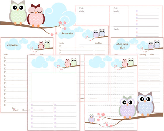 2016 A5 Printable Planner Inserts Free