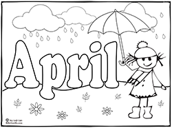 5 Images of April Coloring Printables