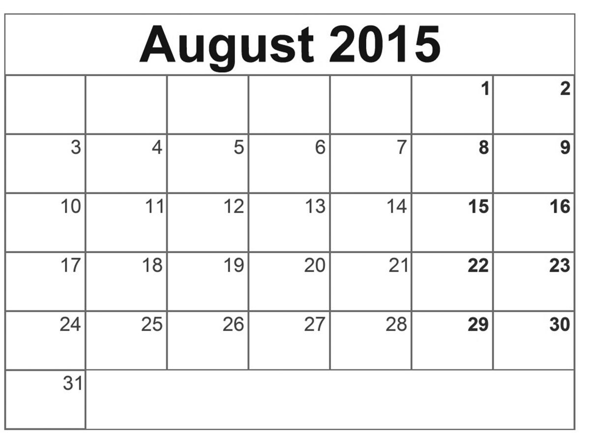 "... ""August 2015 Calendar Printable 8 X 11/page/2"" – Calendar 2015"