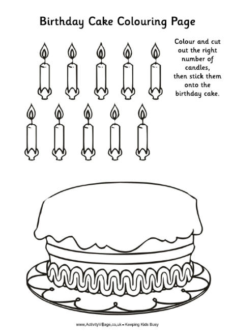 Birthday Cake Activity