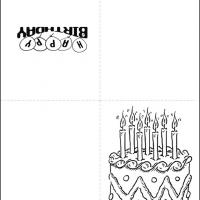 Black and White Birthday Cards Free