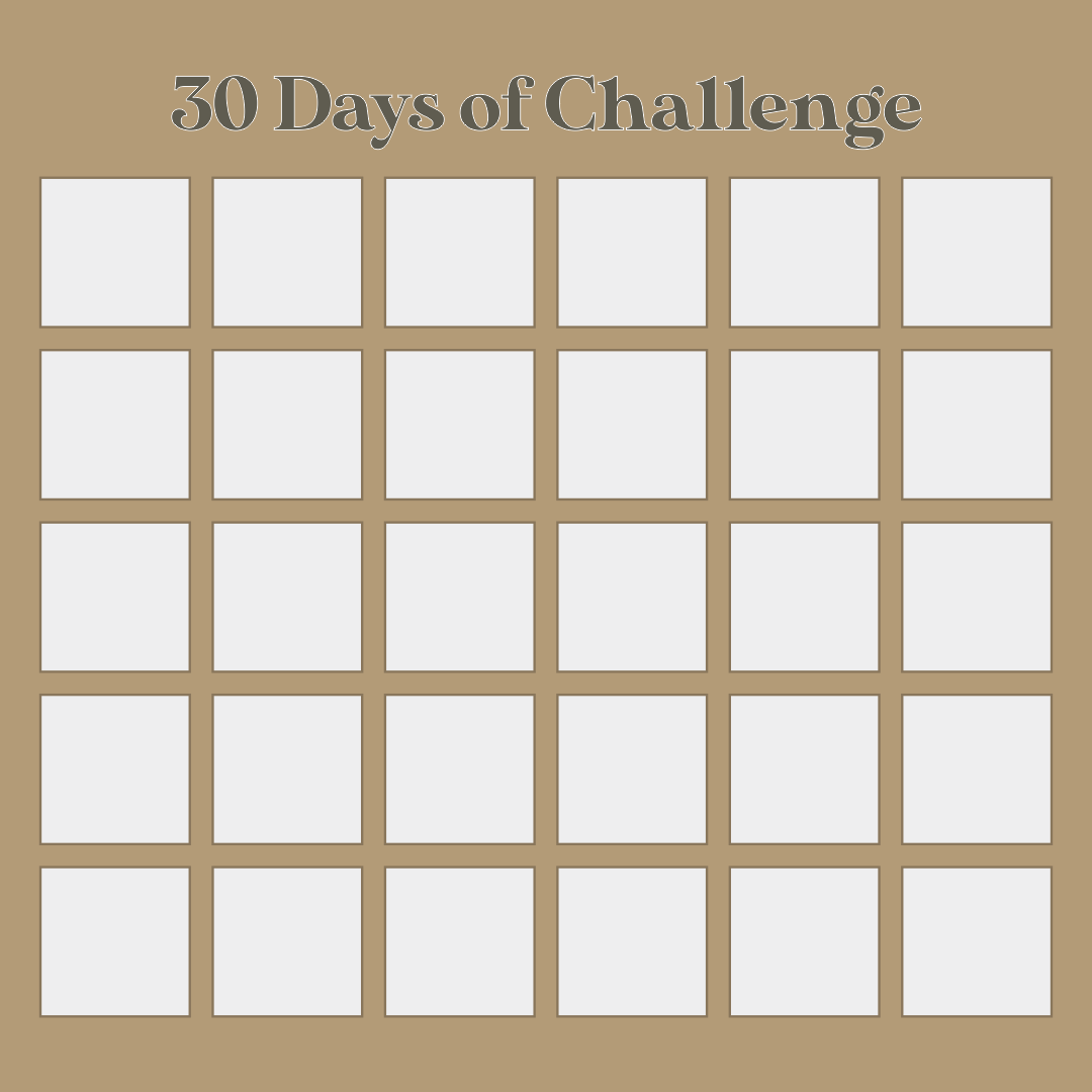 Blank 30-Day Challenge Calendar