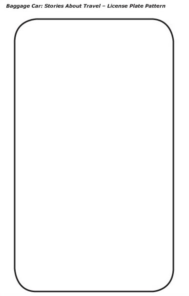 4 Images of Printable License Plate Coloring Page