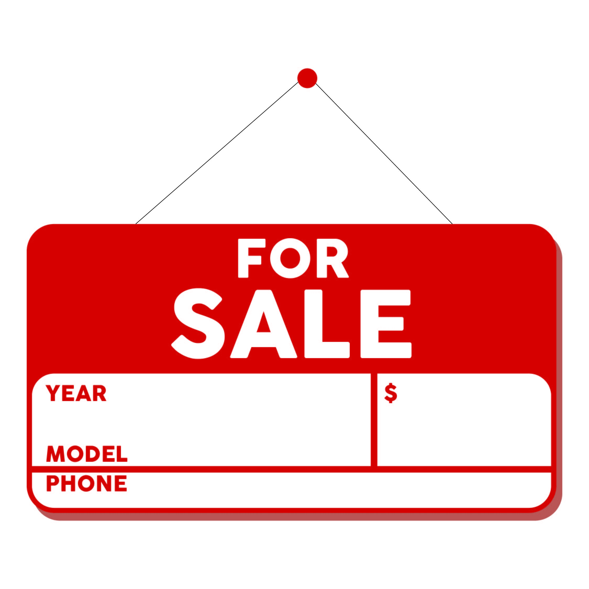 Car for Sale Sign Template Printable