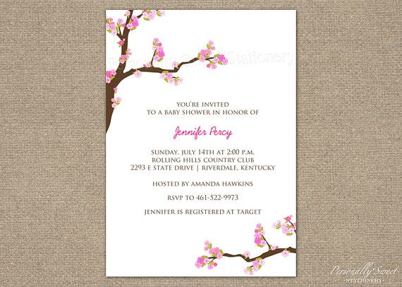 5 best images of cherry blossom invitations printable cherry blossom invitations printable. Black Bedroom Furniture Sets. Home Design Ideas