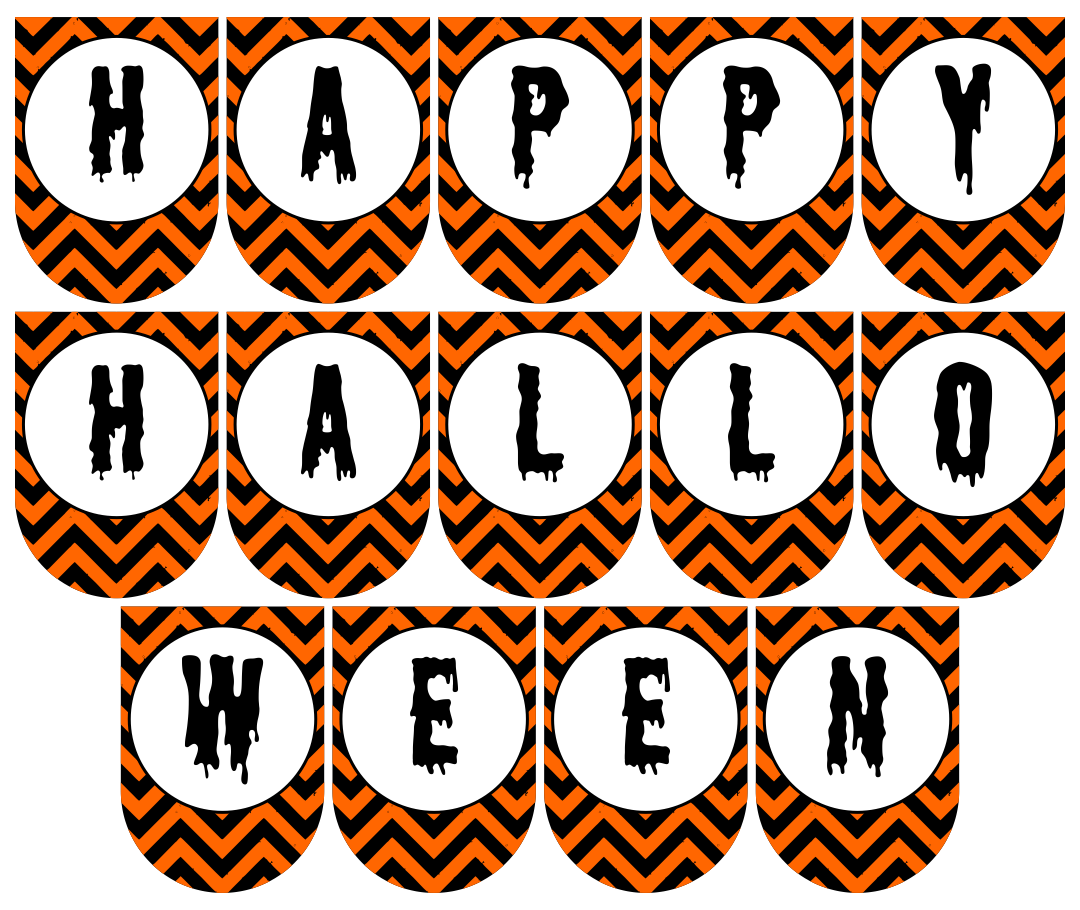 Chevron Halloween Art Banner