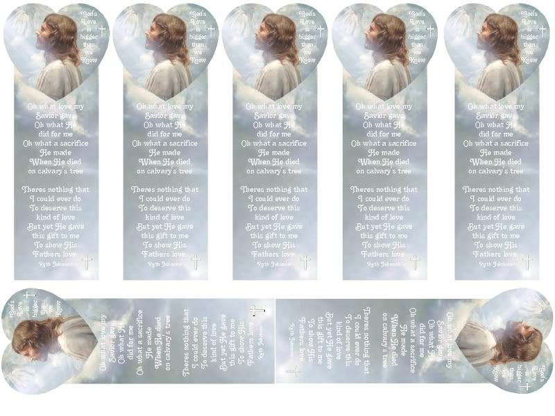 9 best images of free printable typable christian for Religious bookmark templates