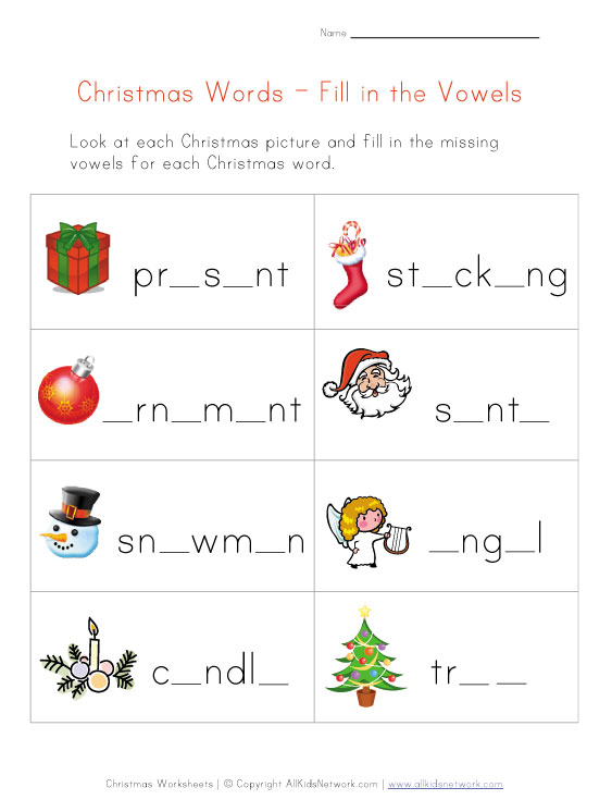 Christmas Worksheets For Kids - Thedesigngrid