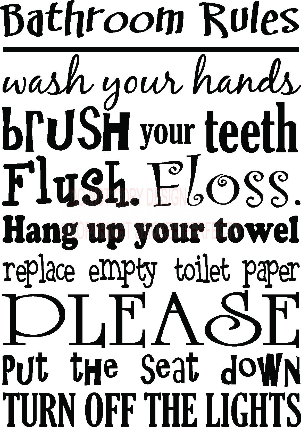 7 best images of free printable decals sayings cute for Bathroom quotes svg