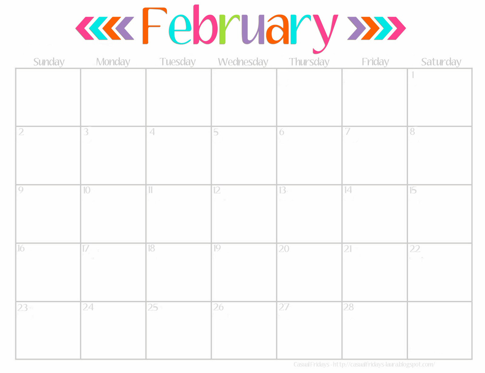 Cute Calendar January 2016 : Best images of cute printable monthly calendar