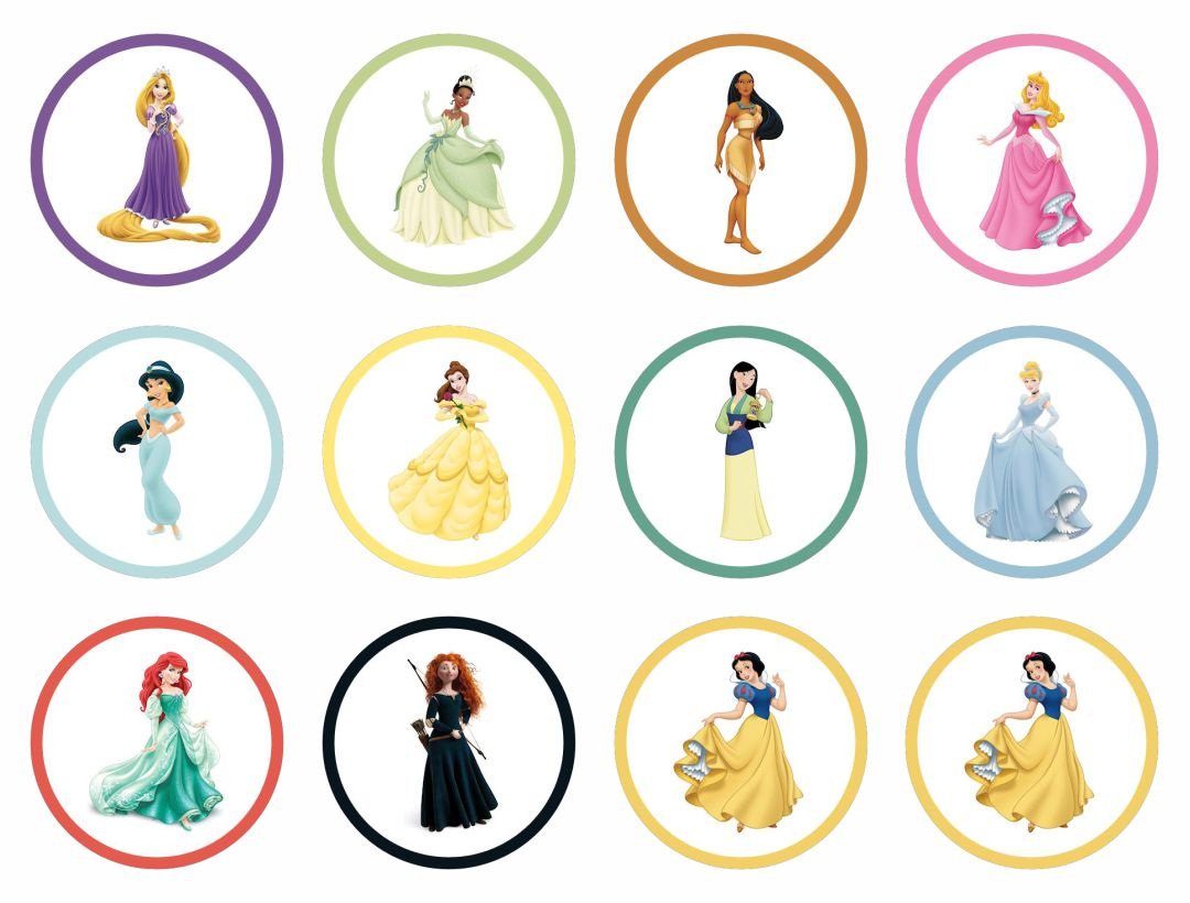 6 Best Images Of Disney Princess Cupcake Toppers Free