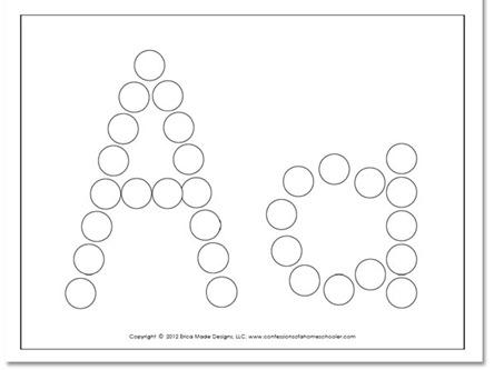 8 Images of Dot Marker Letter Printables