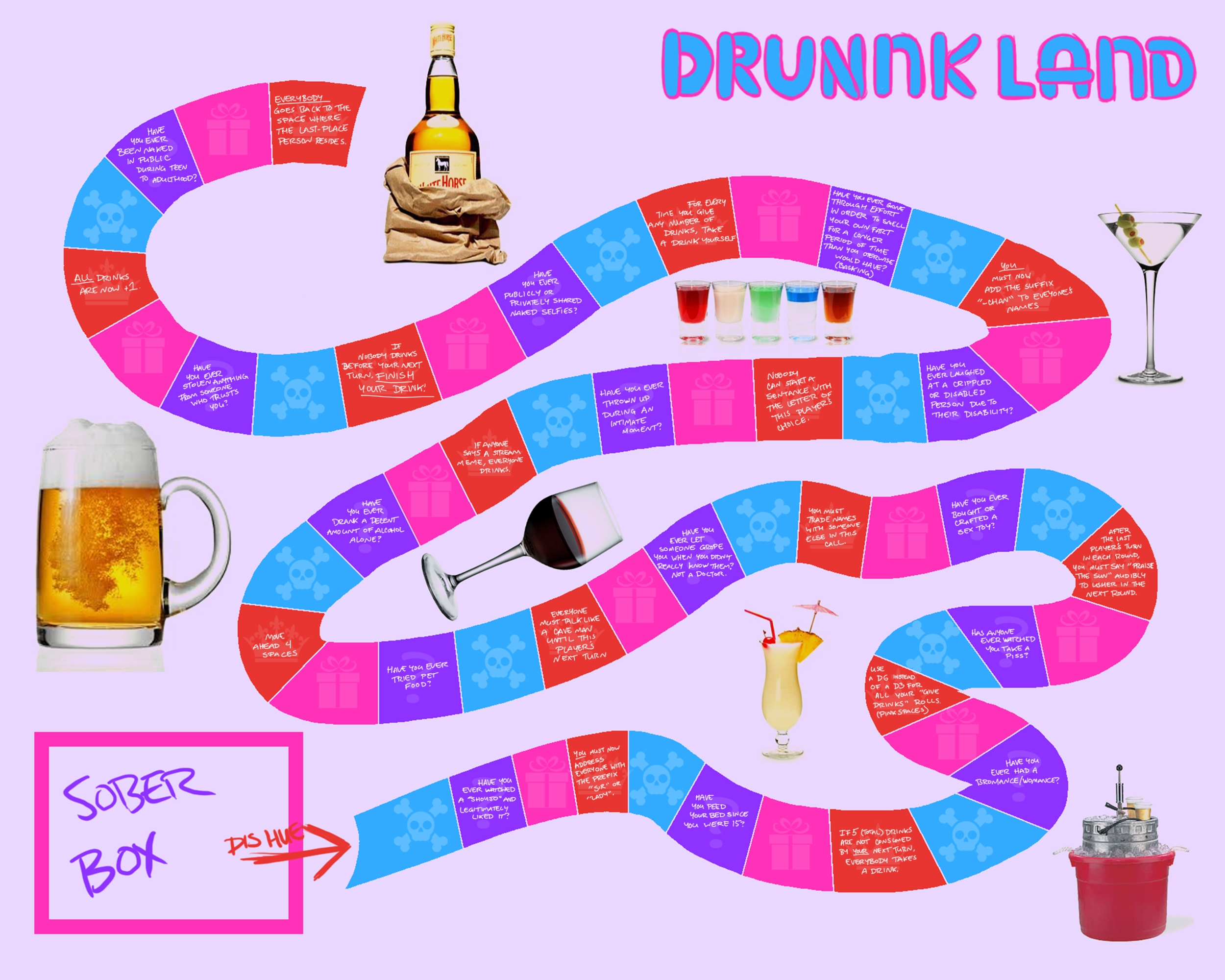 8 Best Images of Printable Drinking Games - Drink If ...