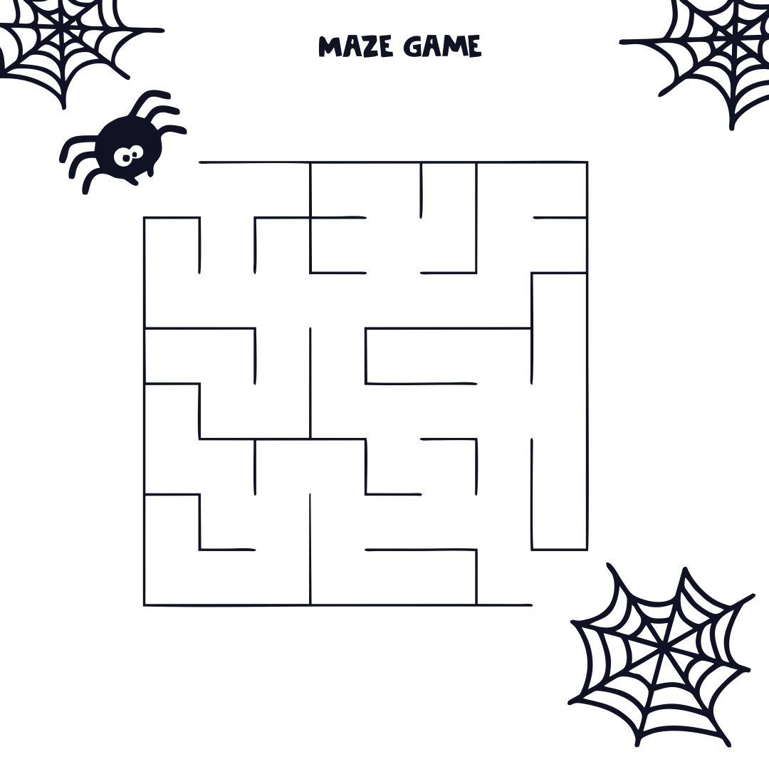 Easy Halloween Maze Printable