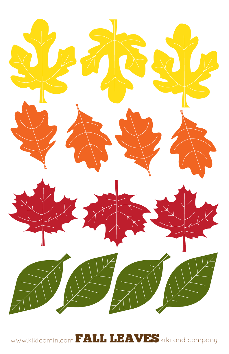 6 Images of Printable Fall Leaves