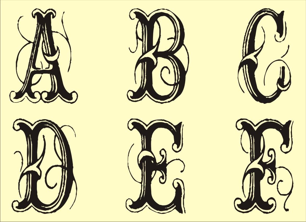 Fancy Alphabet Letters Printable Stencils