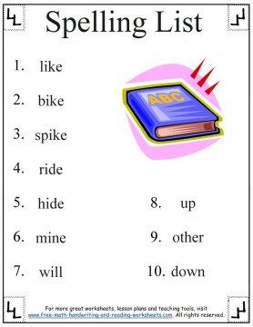 Number Names Worksheets first grade worksheets printables : Printable First Grade Worksheets Spelling - Intrepidpath