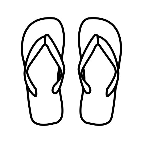 7 Images of Free Printable Flip Flop Coloring Pages