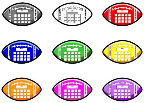 Football Sticker Chart Template